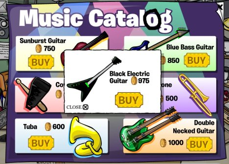 00 music catalog cheats black guitar