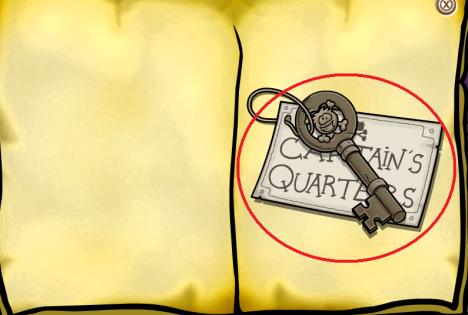 captains quaters key